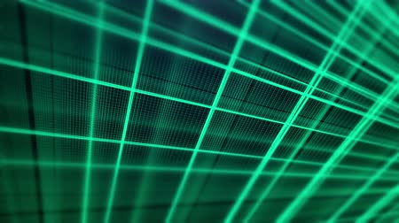 Abstract fractal green lines animation