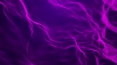 Dynamic abstract vector mesh waves. Animated 4K UHD intro background grid pattern loop. Stok Video
