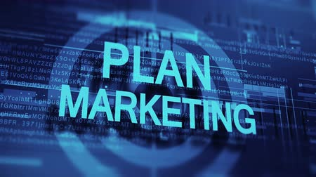 Targeted Marketing Business Plan Video Стоковые видеозаписи