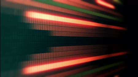 Blurred abstract led light neon glowing stripes equalizer in loop animated dynamic video background