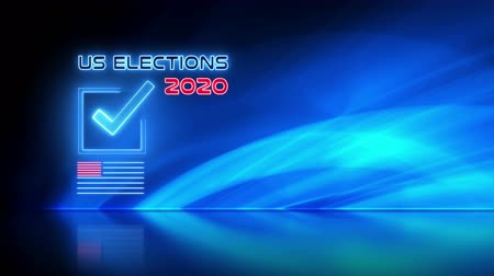 election campaign : Ballot for presidential US election 2020 video animation background concept