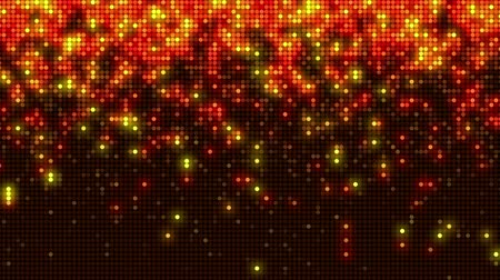 Retro flashing orange LED seamless loop. Modern decoration video animation background.