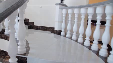 klatka schodowa : marble staircase in the lobby of the hotel or restaurant, stylish interior, the interior of the restaurant, hotel interior, stair treads, modern design, Guest List Numbers, bottom view