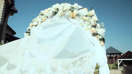 pavilion : wedding arch with flowers. Wedding decor