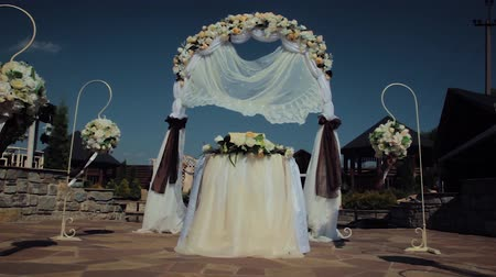corredor : wedding arch with flowers. Wedding decor