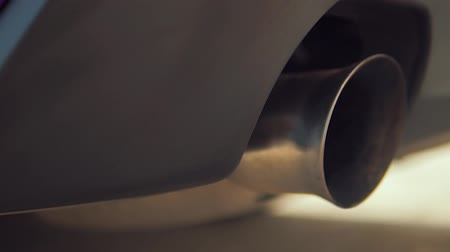 hangtompító : Exhaust Pipe sport car Stock mozgókép