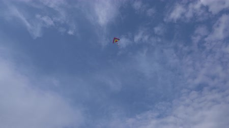 Colorful kite in the sky Stock Footage