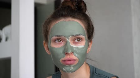 Facial mask Stock Footage