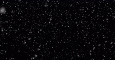 hóesés : Realistic snowfall with fast speed  isolated on the black background. Seamless loop animation 4K Stock mozgókép