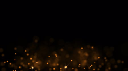 orange background : Orange glowing star particle in random direction  3D render abstract background  animation motion graphic with copy space on black background