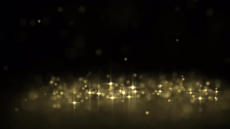 black yellow : Golden glowing star particle in random direction  3D render abstract background  animation motion graphic with copy space on black background
