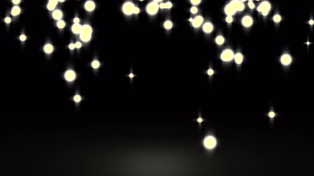 ouro : Golden glowing star particle in random direction  3D render abstract background  animation motion graphic with copy space on black background