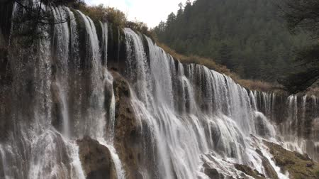 might : Grand  Great waterfalls at Jiuzhaigou National Park in Sichuan , China