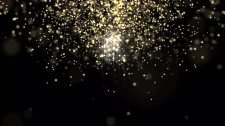 grafika : Glowing star particle in random direction 3D render abstract background animation motion graphic with copy space on black background Wideo