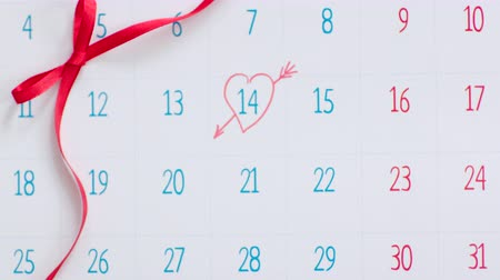 Valentines day marked in calendar