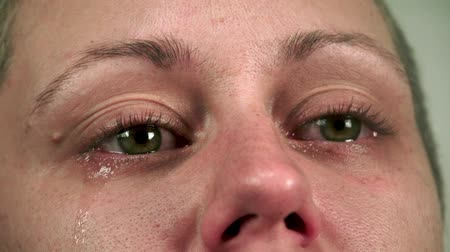 Woman Ready To Cry Stock Footage