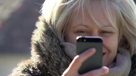 Woman Texting A Message On A Smart Phone Stock Footage