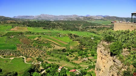 andalucia : View of the countryside from Ronda Spain
