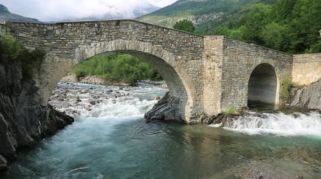 ara : Rio Ara river in the Torla in Valle de Ordesa valley Pyrenees Huesca Aragon at Spain