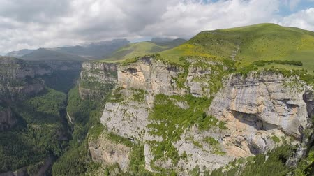 kopec : Aerial video of Canyon de Anisclo in Parque Nacional Ordesa y Monte Perdido, Spain