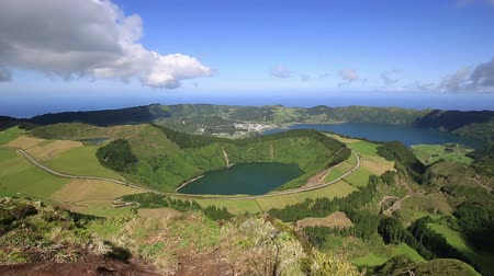 sete : Beautiful lake of Sete Cidades Azores Portugal Europe