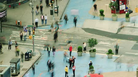 haast : crosswalk time-lapse. Manhattan (New York) Stockvideo