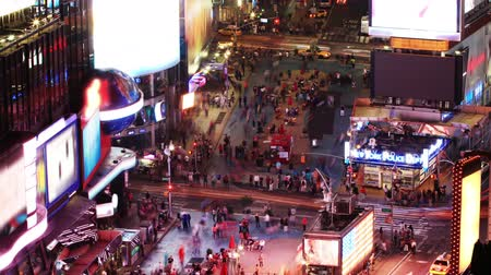 ночная жизнь : Times Square. Time lapse and loopable