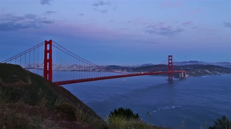 san francisco : Golden Gate bridge at evening, time lapse