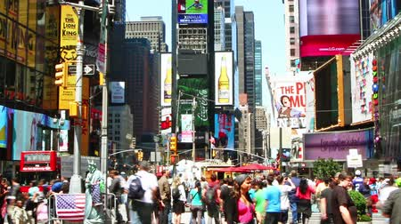 Time lapse of Times Square traffic at daytime Stock Footage