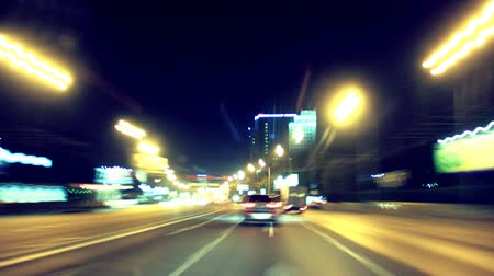high speed road : Time Lapse City Driving at night