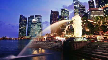 lapso de tempo : Singapore day to night. time lapse Vídeos