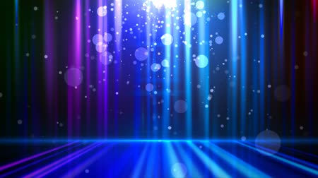 abstract glowing background with particles. Blue. Loopable Stock Footage