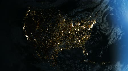 North America From Space. Night