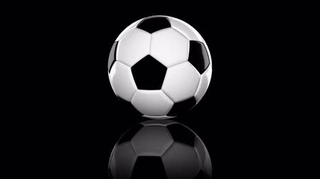 Looping animation a soccer ball. On White background Stock Footage