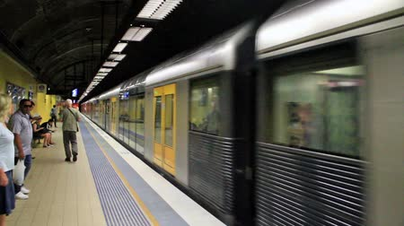 метро : subway in the Sydney city, Australia Стоковые видеозаписи