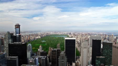 américa central : high floor view to the Central park, New York, time lapse