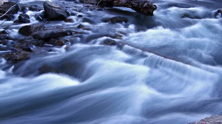 natural tranquil : pure fresh water stream, time lapse Stock Footage