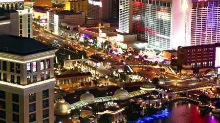 отель : Las Vegas at night, time lapse