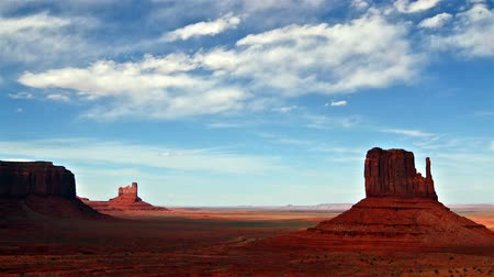 Monument valley at day time, time lapse Stock Footage