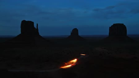 Monument valley at night, time lapse Stock Footage