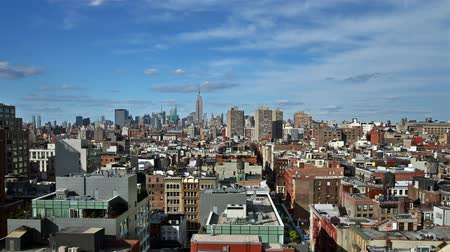 New York skyline time lapse Stock Footage