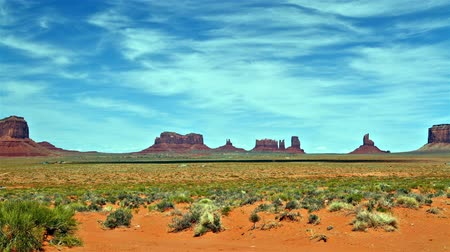 time lapse of Monument Valley panorama Stock Footage
