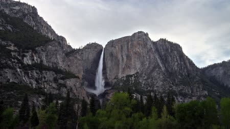 time lapse of Yosemite Falls, Yosemite National Park, California Stock Footage