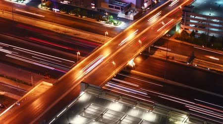 traffic at night, time lapse Stock Footage