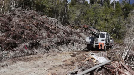 Portable rig moves on to drilling holes for seismic testing, West Coast, New Zealand