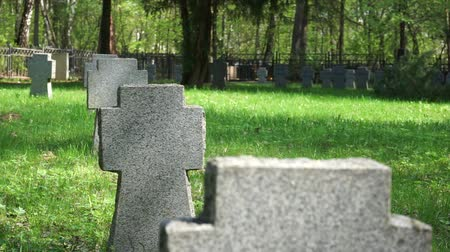 old military cemetery Stock Footage