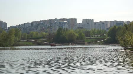 Moscow suburb on weekend