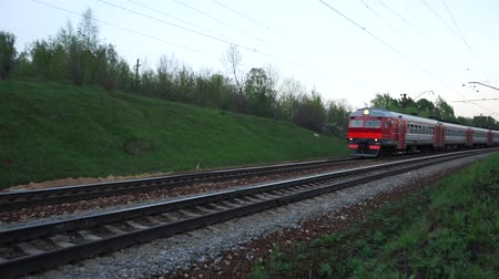 Train to moscow suburb Stock Footage