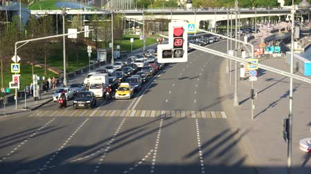 Moscow downtown traffic