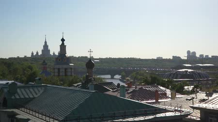 Moscow cityscape from roof